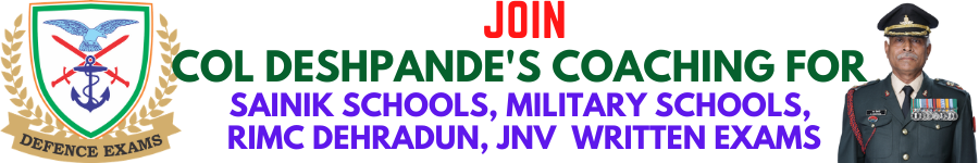 Best Coaching for All India Sainik School, MiIitary School, RIMC, JNV  Exams